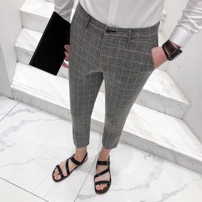 西装裤裤七分裤
