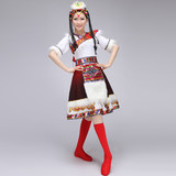 New Tibetan Dancing Costume women's performance clothes with water sleeves adult dance clothes Short performance clothes for square dancing