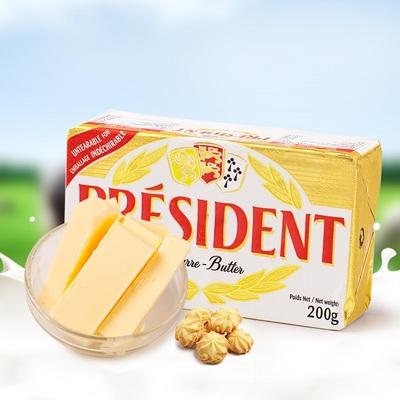 法国总统淡味食用黄油块200g烘焙原料动物黄油蛋糕曲奇到19年2月