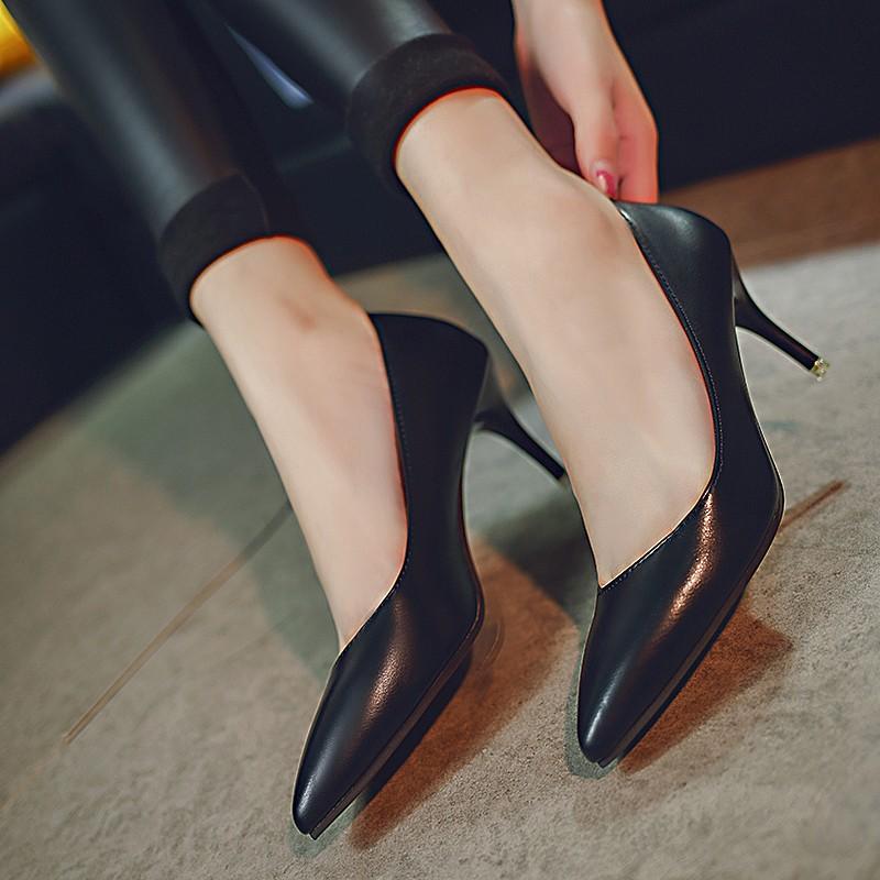 高跟黑色潮鞋