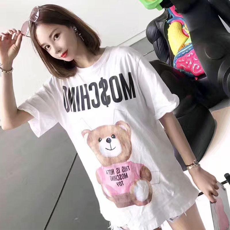 小熊字母纯棉t恤