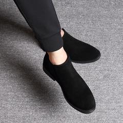 男毛皮休闲鞋