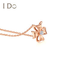 I Do four-leaf clover series 18K gold diamond necklace female wedding gift official authentic ido