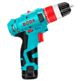 Boda 12v lithium drill rechargeable flashlight to multi-function pistol drill panimalay electric screwdriver rechargeable screwdriver