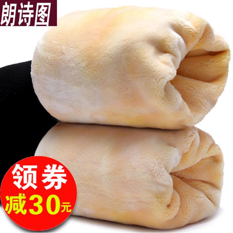 加绒加厚打底裤 女士冬季外穿高腰特厚一体踩脚 超厚保暖棉裤冬天
