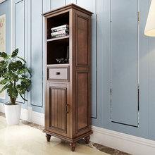 定做美式浴室柜卫生间边柜侧柜卫生间边柜浴室储物柜高柜实木立柜