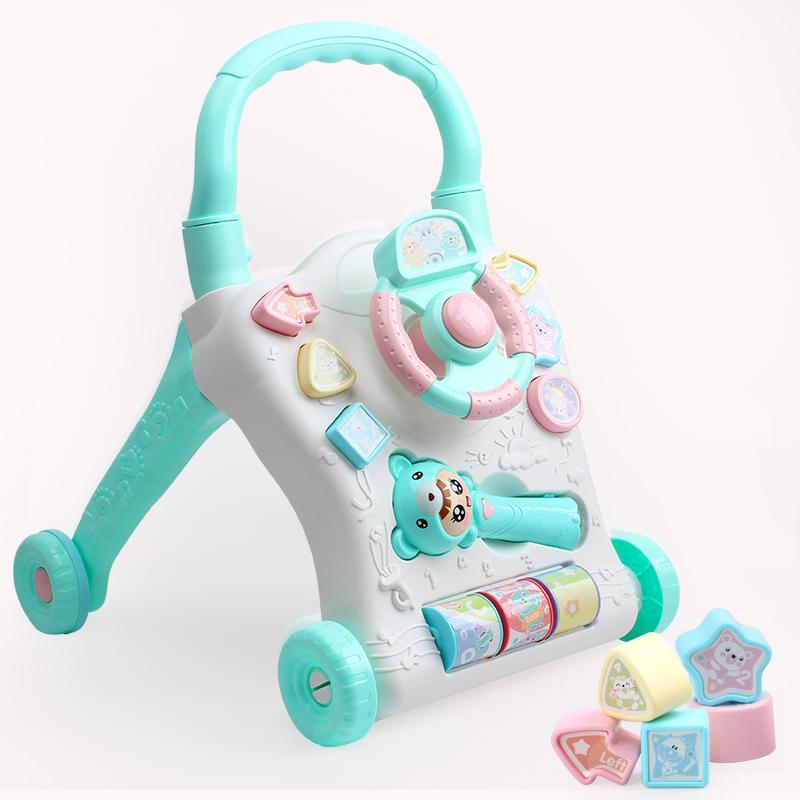 婴儿学步车多功能防侧翻6-12个月1岁男女孩学走助步车手推车玩具
