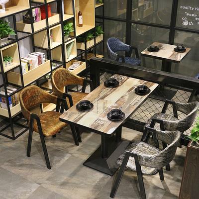 餐厅桌椅组合 餐饮店桌子奶茶甜品店餐饮休闲桌椅组合 咖啡店桌椅