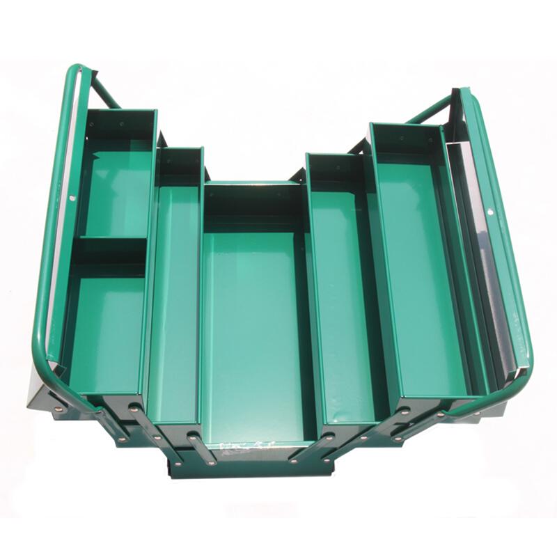 世达五金工具箱多层折叠翻斗五层手提箱铝合金箱工具收纳箱95104A