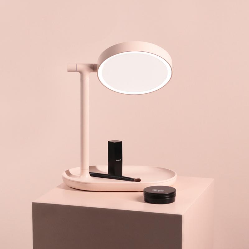 MUID翻转化妆镜带灯双面高清补光梳妆台式镜充电便携桌面led镜子图片