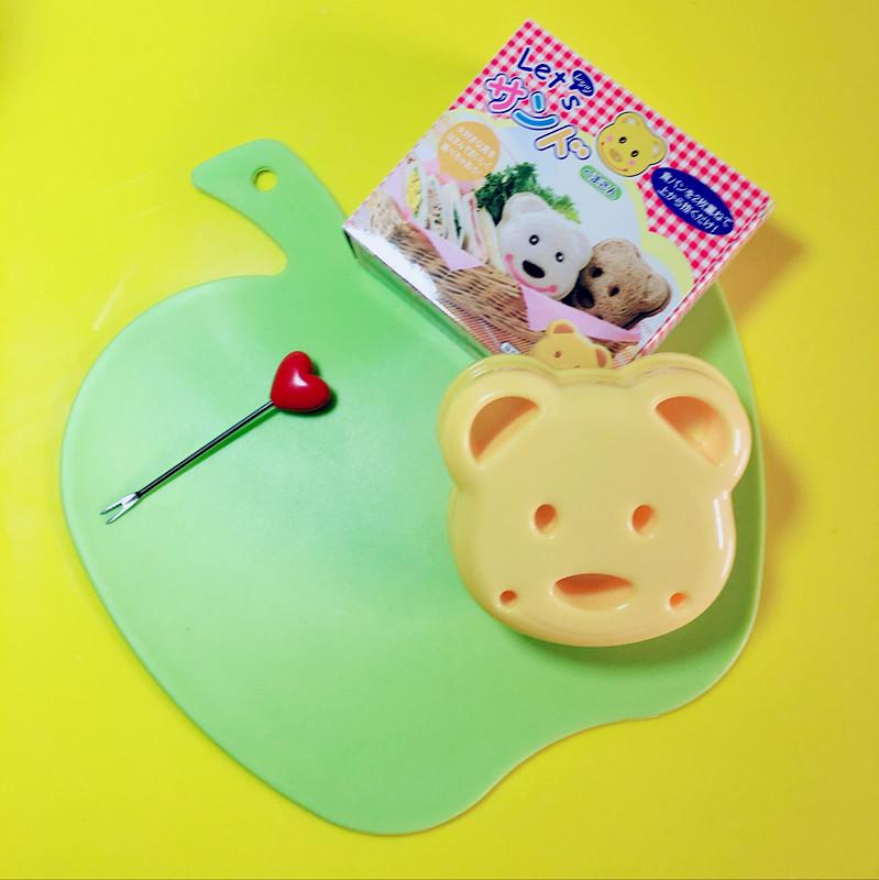 可爱小熊三明治模具吐司面包制作器袋面包机亲子DIY饭团便当工具
