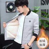 潮流厚外套学生棉衣保暖上衣服加棉冬衣 冬季加绒夹克男青少年韩版图片