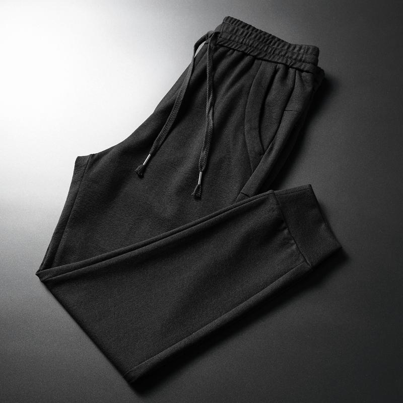 韩版抽绳哈伦裤