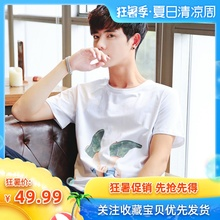 Short-sleeved T-shirt for boys Summer 2019 New Cotton Half-sleeve ins Trendy Teenagers'T-shirt and Top Dress