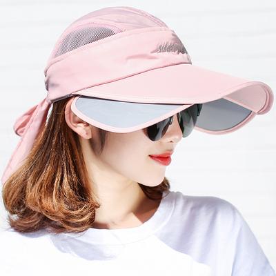夏季遮阳帽女防晒帽可伸缩空顶棒球帽防紫外线太阳帽户外大沿沙滩