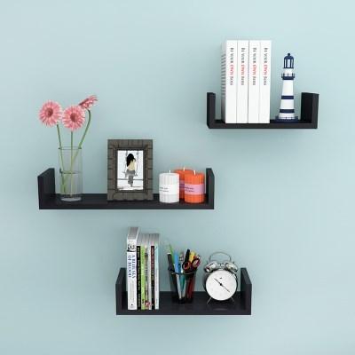 置物墙壁挂免烤漆墙上架子木板U型形美甲打孔订在隔板钉创意卧室