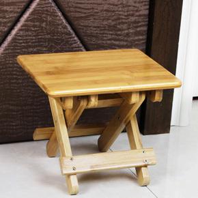 艾品楠竹儿童小板凳折叠凳子实木便携式户外马扎钓鱼椅子成人家用