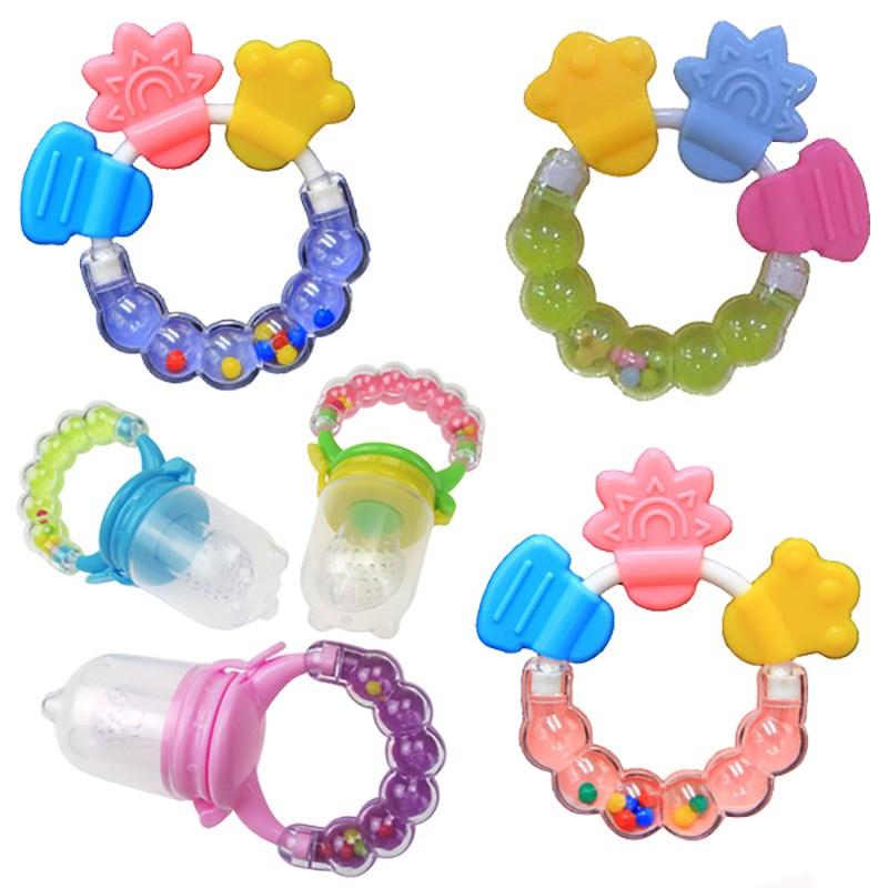 磨牙棒宝宝婴儿童牙胶小孩咬咬胶无毒纯天然硅胶手环摇铃3-12个月