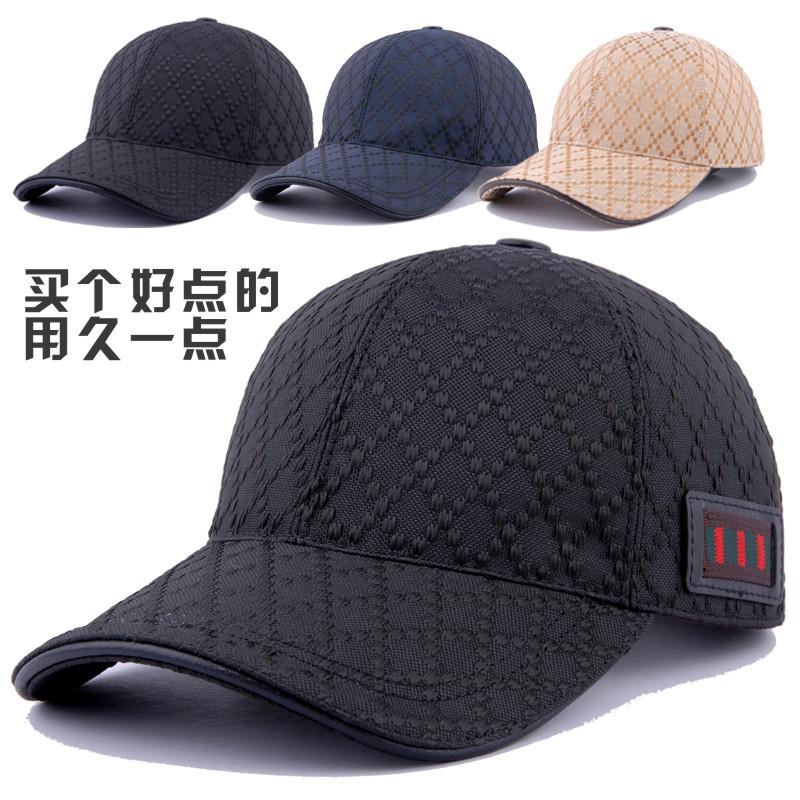 DYTOO高档格纹帽子黑色棒球帽男女士鸭舌帽秋冬天户外双层保暖帽