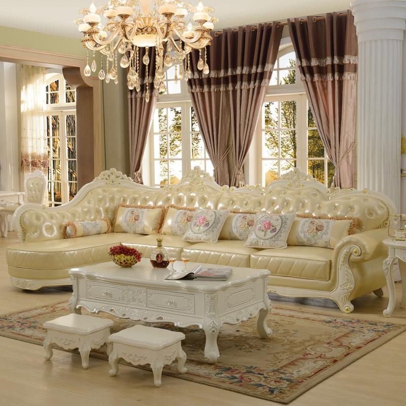 家具欧式转角真皮沙发