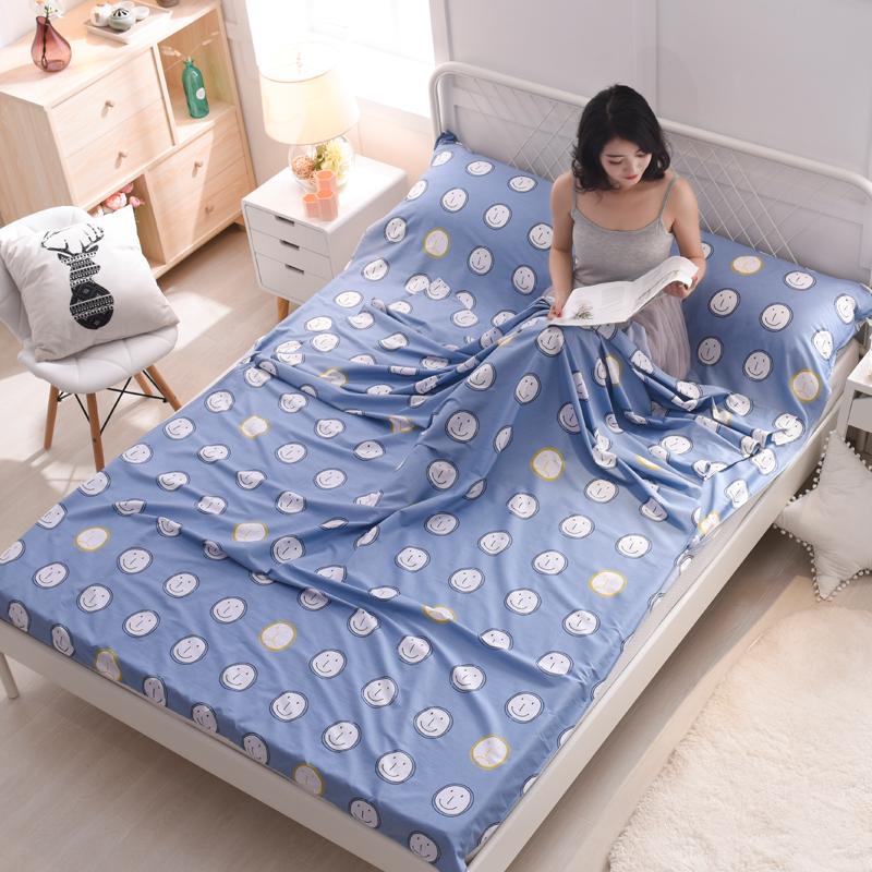 旅行酒店隔脏睡袋成人室内宾馆双人被套便携式旅游防脏床单人纯棉