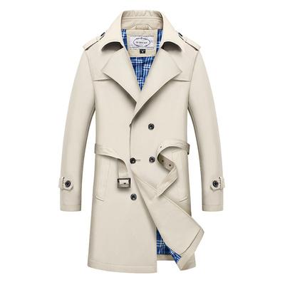春秋季中长款风衣男中年外套薄款夹克40岁50宽松中老年爸爸装大衣