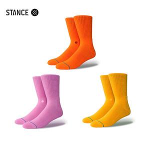 STANCE男袜粉红色基础纯色街头时尚休闲潮袜舒适311中筒袜子