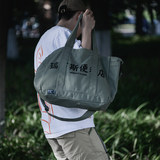 REBIRTH 19SS New Japanese Simple Multi-pocket Large Capacity Heavy Canvas Single Shoulder Oblique Tuotuo Special Bag for Men and Women