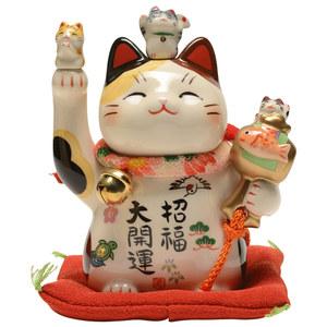 日本药师窑开运招财猫大号摆件生日开业乔迁创意礼物日式和风陶瓷