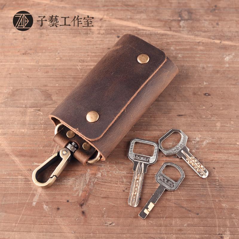 牛皮钥匙包手工