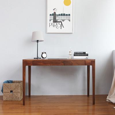 北欧简约电脑桌家用单人小户型带抽屉复古实木书房卧室简易书桌子专卖店