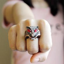 迷你韩版狐狸戒指表女学生翻盖小表个性时尚戒指手表男夜光指环表