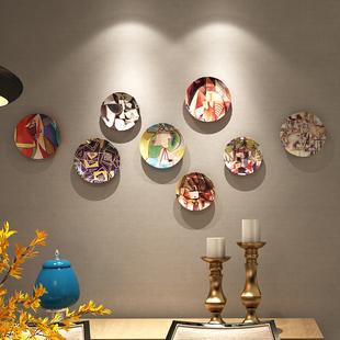 饰盘子美式挂盘客厅餐厅墙面装 毕加索作品欧式陶瓷挂盘背景墙装