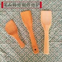 竹木铲子锅铲小铲子不伤锅具寿司铲迷你铲厨房用品DIY雕刻竹铲