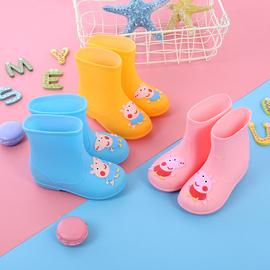 小猪雨鞋宝宝小孩儿童雨鞋男童女童雨靴防滑中童小童水鞋幼儿胶鞋图片