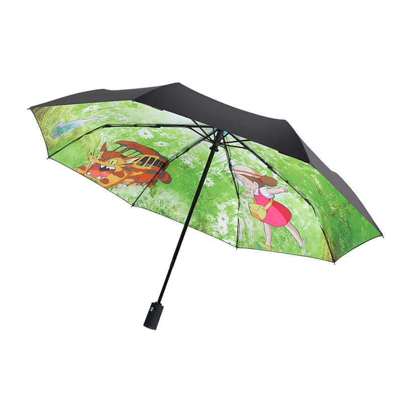 宫崎骏龙猫雨伞全自动双层防晒遮阳伞动漫伞折叠女晴雨两用太阳伞