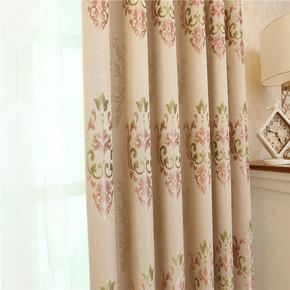 新款现代欧式精品竹节麻提花高遮光客厅卧室书房成品窗帘定制包邮
