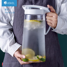 Japan ASVEL cold water bottle plastic household sealed jug large capacity high temperature refrigerator water bottle cold water cup