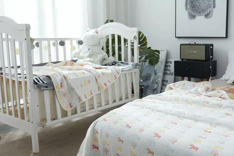学生宿舍单人床纯棉纱布卡通婴儿床单单件儿童被单被子100%全棉