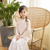 女童日常外出服中国风童装 改良衣裙礼服衣名小宝钗 西子问汉服童装