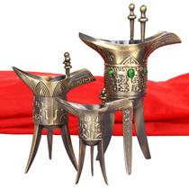Imitation Bronze Cup wine respect antique glass Antique creative gift Qianlong Cup home antiquités