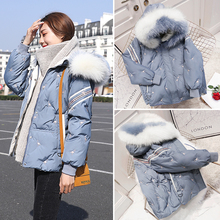 2008 New Female Dress Winter Large Size Short Down Dress Female Coloured Down Colour Blue Small White Duck Down Coat