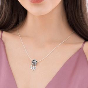 PANDORA潘多拉 斑斓之梦时尚简约锁骨项链女套装 送女友礼物