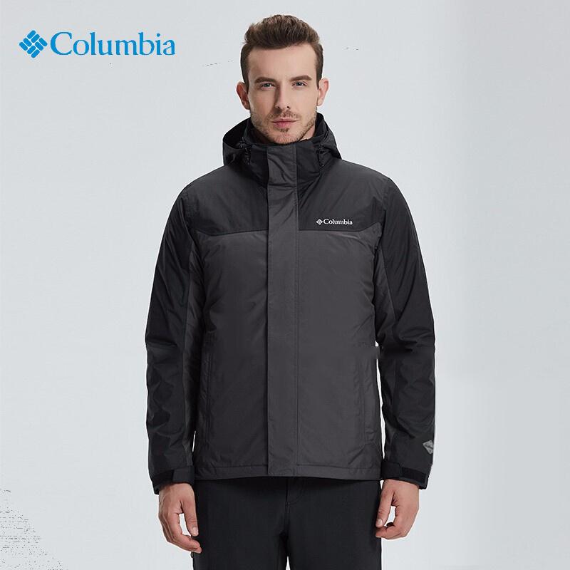 哥伦比亚男装秋冬户外登山服羽绒内胆保暖三合一冲锋衣外套PM1339