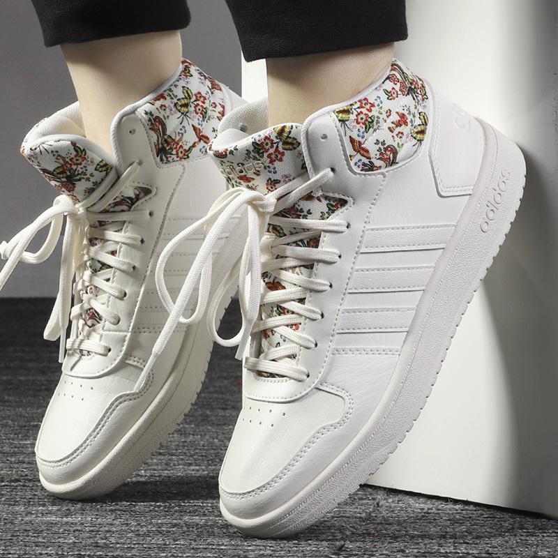Adidas阿迪达斯板鞋NEO女鞋2019冬季新款高帮运动鞋休闲鞋EF0120