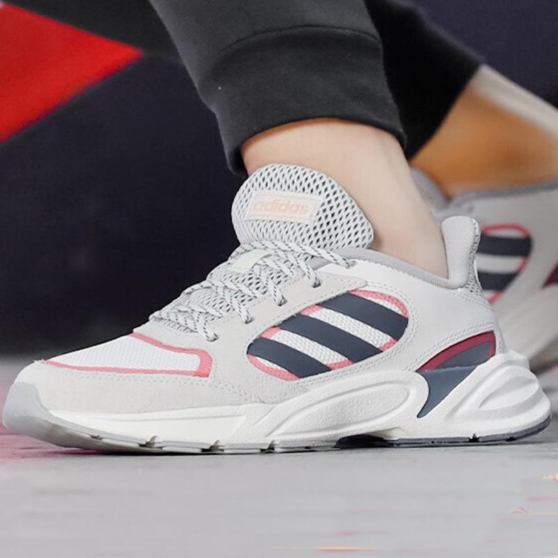 阿迪达斯女鞋休闲鞋2019冬季新款跑步鞋运动鞋复古老爹鞋板鞋鞋子