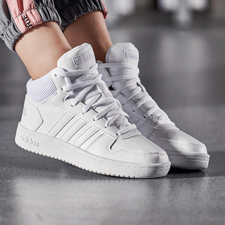 Adidas阿迪达斯鞋女鞋2019冬季新款高帮板鞋小白鞋子运动鞋休闲鞋