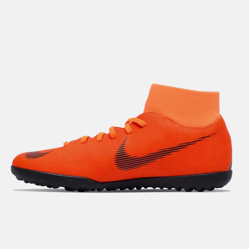 NIKE耐克男鞋2019冬季新款运动鞋碎钉TF高帮防滑足球鞋AH7372-810