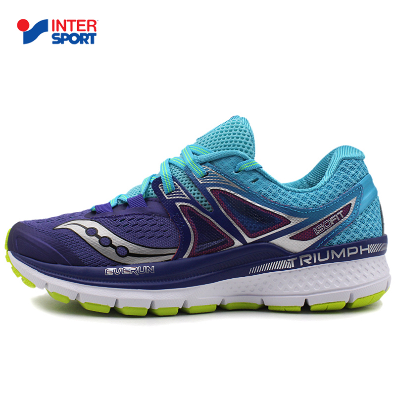 SAUCONY圣康尼女鞋2018新款TRIUMPH ISO缓震耐磨跑步运动鞋S10346