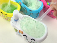 China Xiaoling Toys Japanese Food Play Bathtub Bubble Bath Effervescent Drink Mini Kitchen 曰 This food is finished